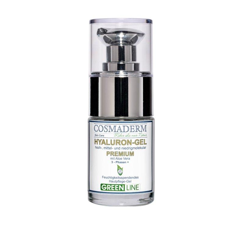 Cosmaderm - Hyaluron-Gel Premium mit Aloe Vera (Greenline) - 15ml (GP: 155,32 € pro 100 ml)