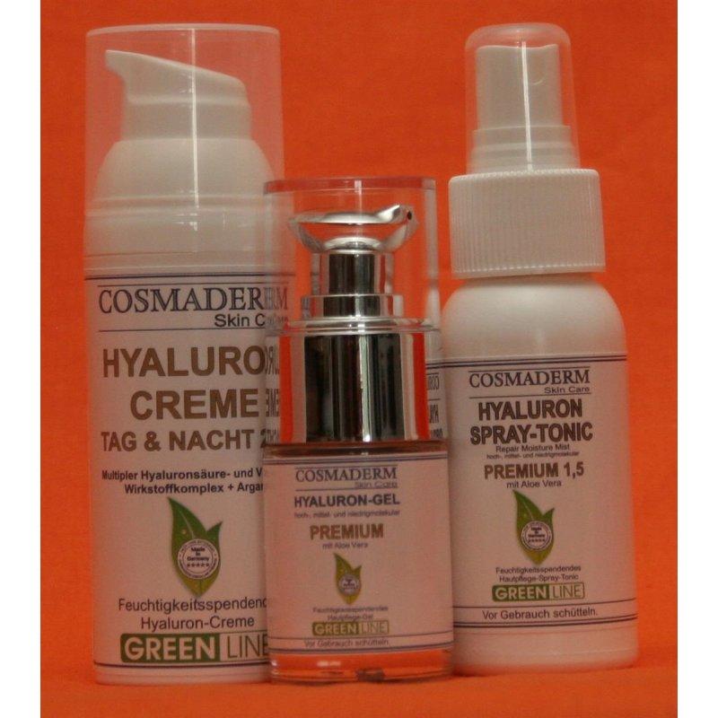 Cosmaderm - Hyaluron Set Hyaluron Premium Gel, 24h Creme und...