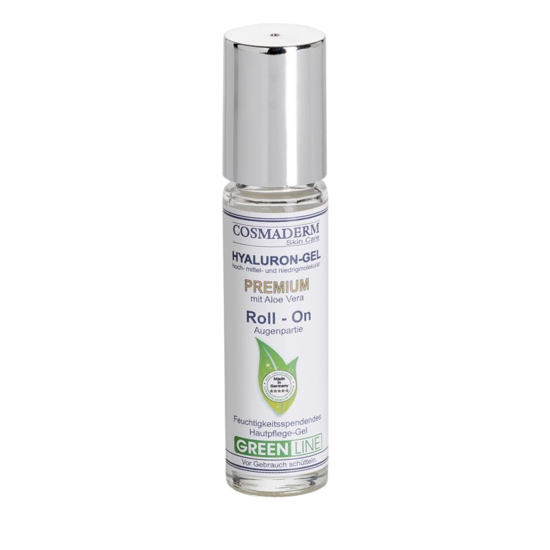 Cosmaderm - Hyaluron-Gel Premium Glas Roll On 10ml (Greenline)