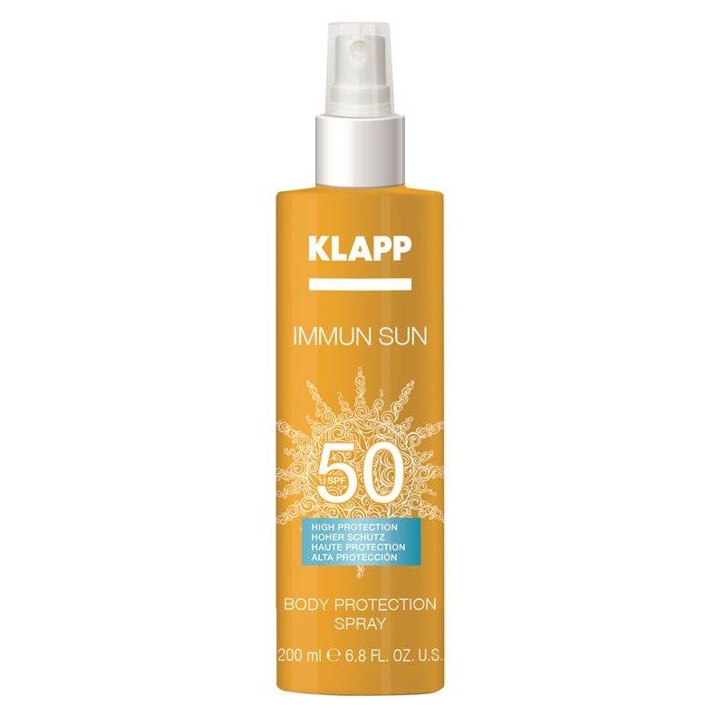 Klapp Cosmetics Klapp - Immun Sun Body Protection Spray SPF 50 200 ml (GP: 11,19 € pro 100 ml)