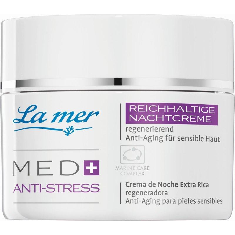 La mer Cosmetics La Mer - Med+ Anti-Stress - Reichhaltige Nachtcreme ohne Parfüm (50ml) (GP: 73,91 € pro 100 ml)